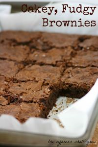 Cakey Fudgy Brownies TCSG